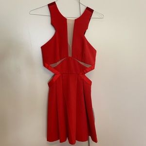 RED- THREE FLOOR SUMMER DRESS